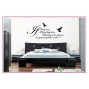 If I Lay Here Snow Patrol Wall Sticker - Wall Quotes