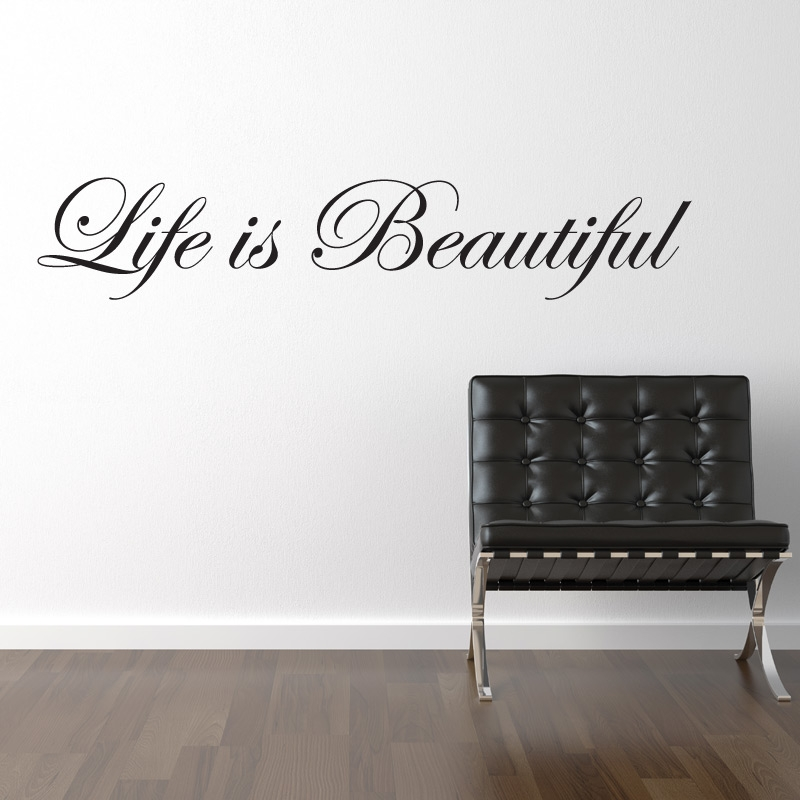 life is beautiful wall sticker wall quotes wall stickers