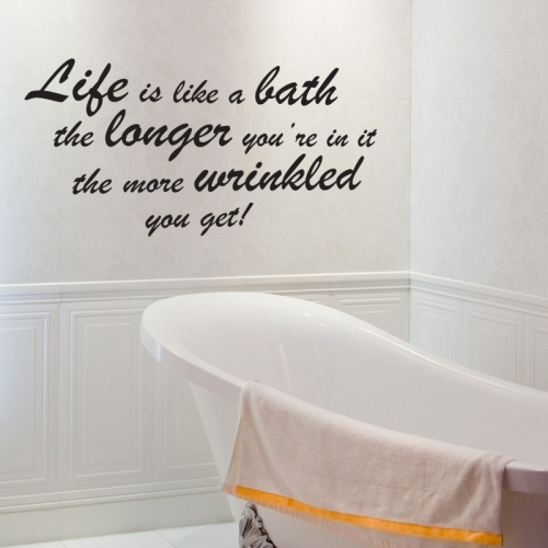 Bathroom quotes and sayings quotesgram for Bathroom wall decor quotes
