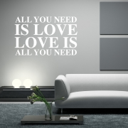 Love is all you need Wall Sticker - Wall Quotes