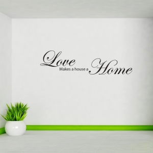 Love makes a house a home Wall Sticker - Wall Quotes