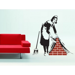 Banksy Maid Wall Decal