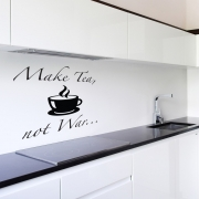 Make Tea Not War Wall Sticker - Wall Quotes