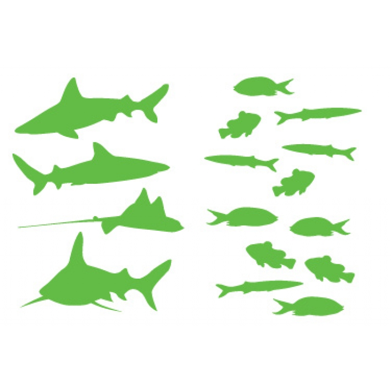 fish and sharks wall sticker kids wall stickers