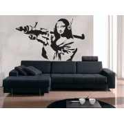 Banksy Mona LIsa Wall Decal