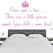 Personalised Wall Sticker - your name once upon a time - Kids