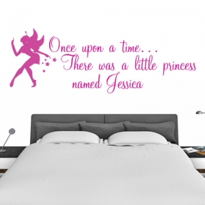 Personalised Wall Sticker With Fairy - Once Upon A Time