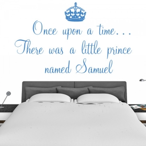 Personalised Wall Sticker Prince - your name once upon a time - Kids