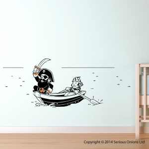Pirate, Boat and Cabin Boy Wall Sticker