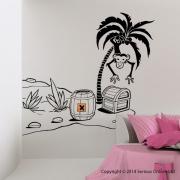 Desert Island Pirate Wall Sticker