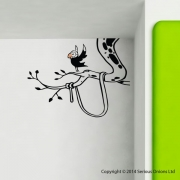 Parrot in Palm Tree Wall Sticker