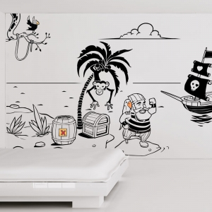 Complete Pirate Wall Mural