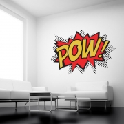 Pow (colour)- Superhero Punch Wall Stickers - Kids