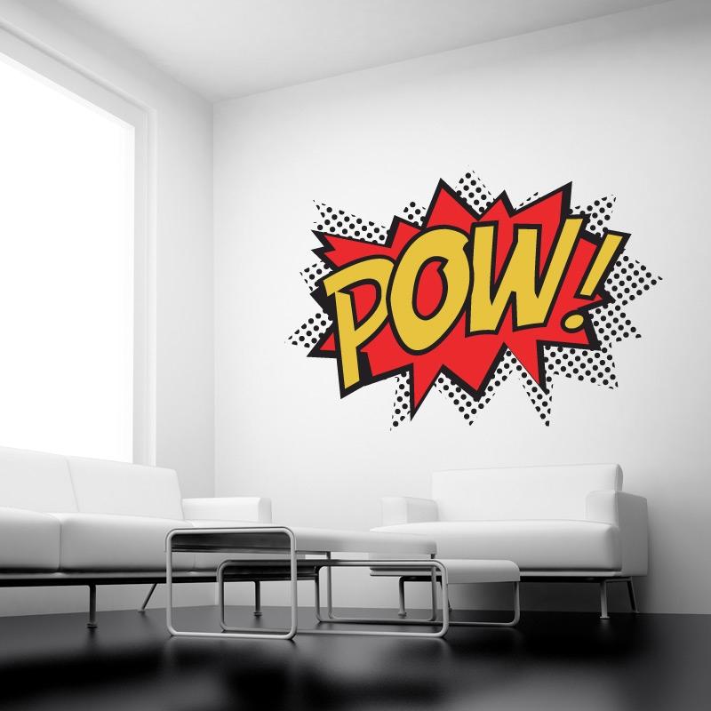 Pow Colour Superhero Punch Wall Stickers Kids Wall