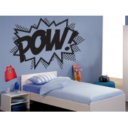 Pow - Superhero Punch Wall Stickers - Kids