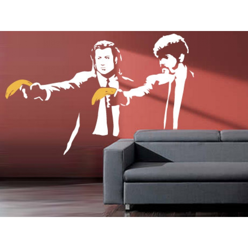 banksy pulp fiction wall sticker wall stickers
