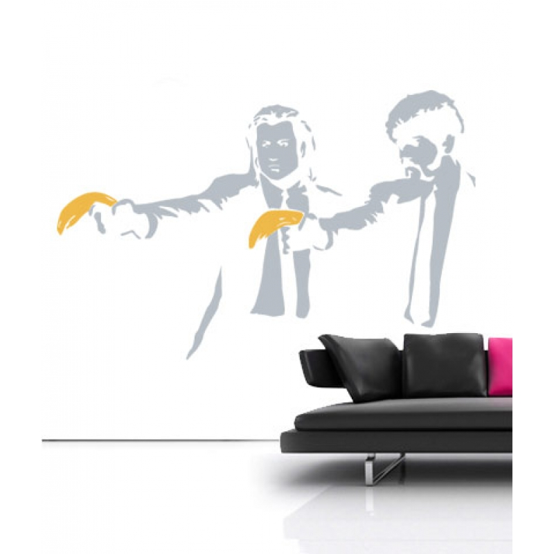 banksy pulp fiction wall sticker wall stickers banksy wall sticker girl and balloons