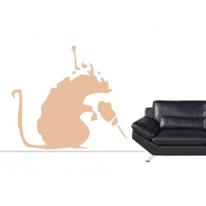 Banksy Drilling Rat Wall Stickers