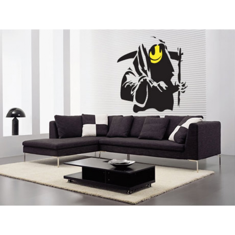 banksy grin reaper wall sticker wall stickers banksy i am your father wall sticker by the binary box