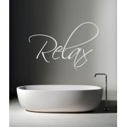 Relax - Bathroom Sticker (Handwriting Style)