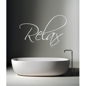 Relax - Bathroom Sticker (Handwriting Style)