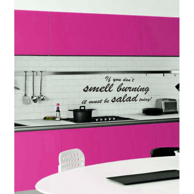 Salad Wall Sticker Kitchen Quotes Wall Stickers