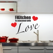 This Kitchen Is Seasoned With Love Wall Sticker - Wall Quotes