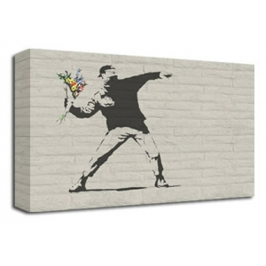 Hooligan with Flowers - Banksy