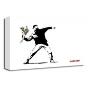 Hooligan With Flowers 2 - Banksy
