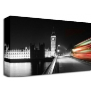 London Bus Big Ben B/W