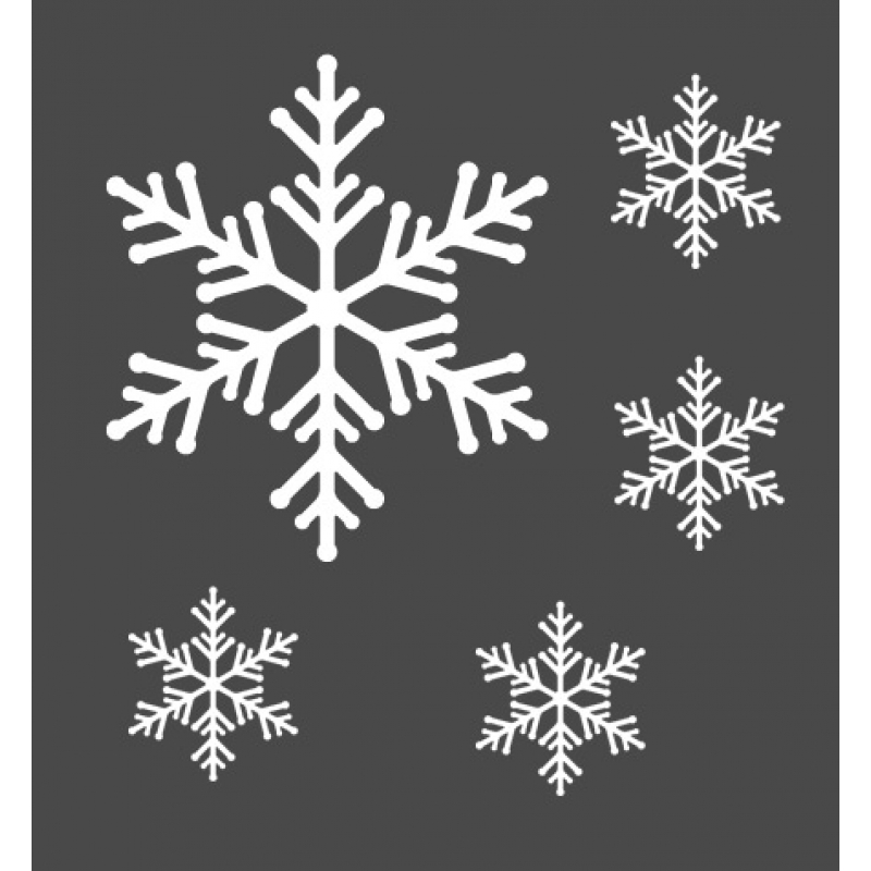 snowflakes wall stickers. Black Bedroom Furniture Sets. Home Design Ideas