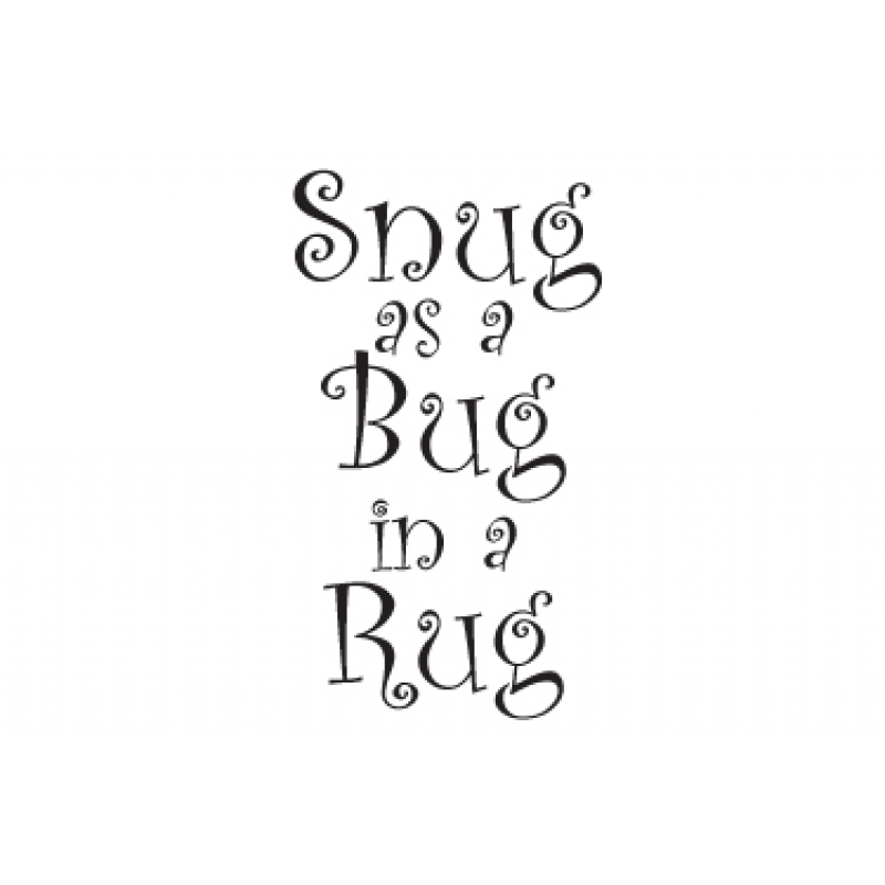 Snug As A Bug In A Rug Wall Stickers Nursery Wall Stickers