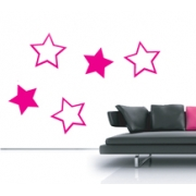 Star Shapes Wall Stickers - Kids