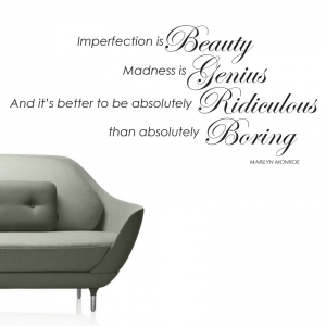 Imperfection is beauty - Marilyn Monroe Wall Sticker Quote