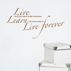 Live forever inspiring love Wall Sticker Quote