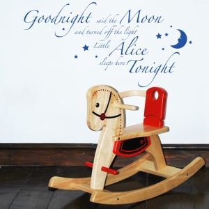 Goodnight said the moon - nursery Wall Sticker Quote