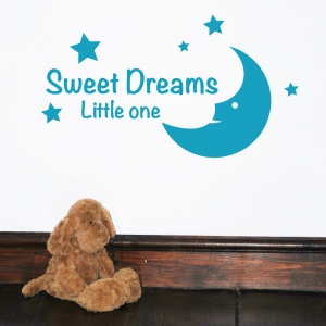 Sweet Dreams little one - kids, nursery Wall Sticker Quote