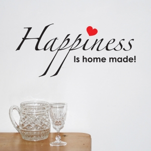 Happiness is home made quotes inspiring Wall Sticker Quote