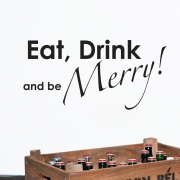 Eat, Drink and be Merry Kitchen Wall Stickers Wall Quotes