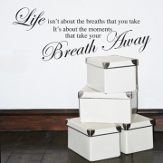 Life takes your breath away  wall stickers Wall Quotes
