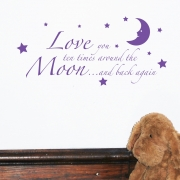 Love you to the moon and back wall stickers Wall Quotes