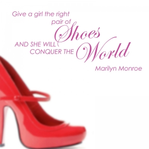 Marilyn Monroe shoes quote  wall stickers Wall Quotes