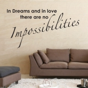 Dreams and love wall stickers Wall Quotes