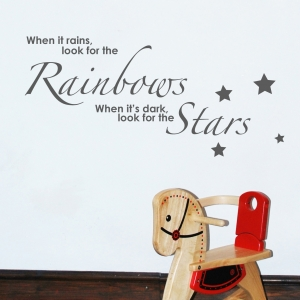 Rainbows and Stars wall stickers Wall Quotes