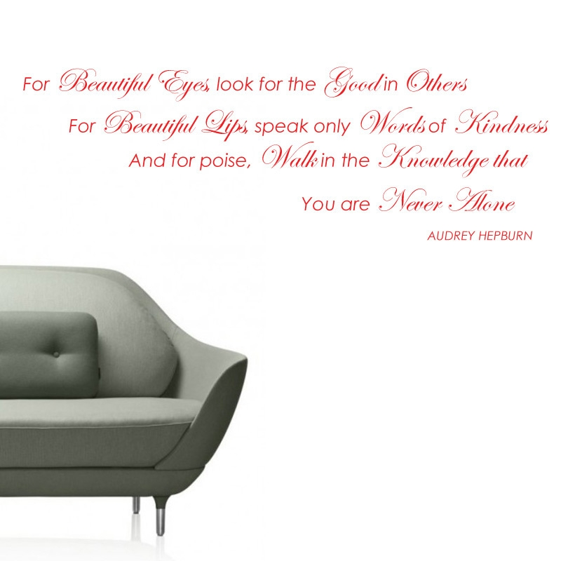 Audrey Hepburn Beautiful Eyes Quote Wall Sticker Decal