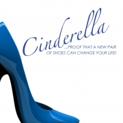 Cinderella shoes can change the world wall stickers Wall Quotes