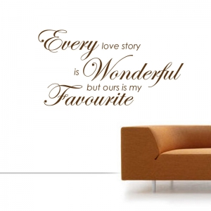 Every Love Story Is Wonderful wall stickers Wall Quotes