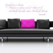 Marilyn Monroe Imperfection is beauty 2 wall stickers Wall Quotes