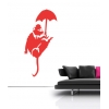 Banksy Umbrella Rat Wall Decal