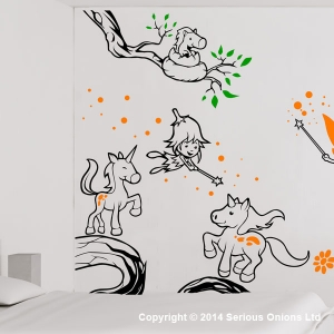 Complete Unicorns and Fairies Wall Mural